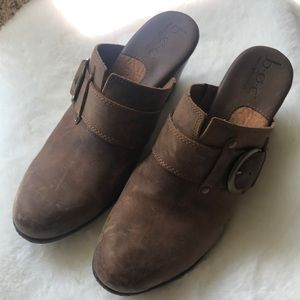 BOC Born leather distressed mules Brand New